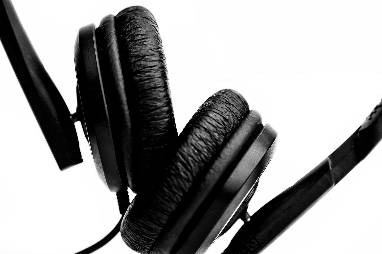 Indoors  No People White Background Close-up Day Headphones Music