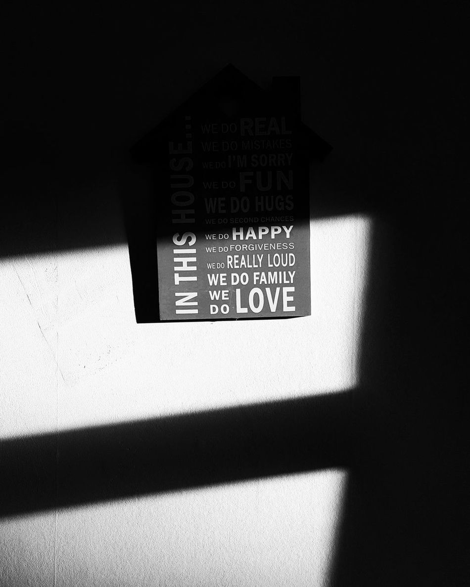 """""""Home"""" Shadow Text Indoors  No People Family Retro Styled Camera - Photographic Equipment Blackandwhiteworld Photography Themes Film Industry White Background Abstract Photography Blackandwhite Photography Black & White Blackandwhitephoto Blackandwhite World Close-up Indoors"""