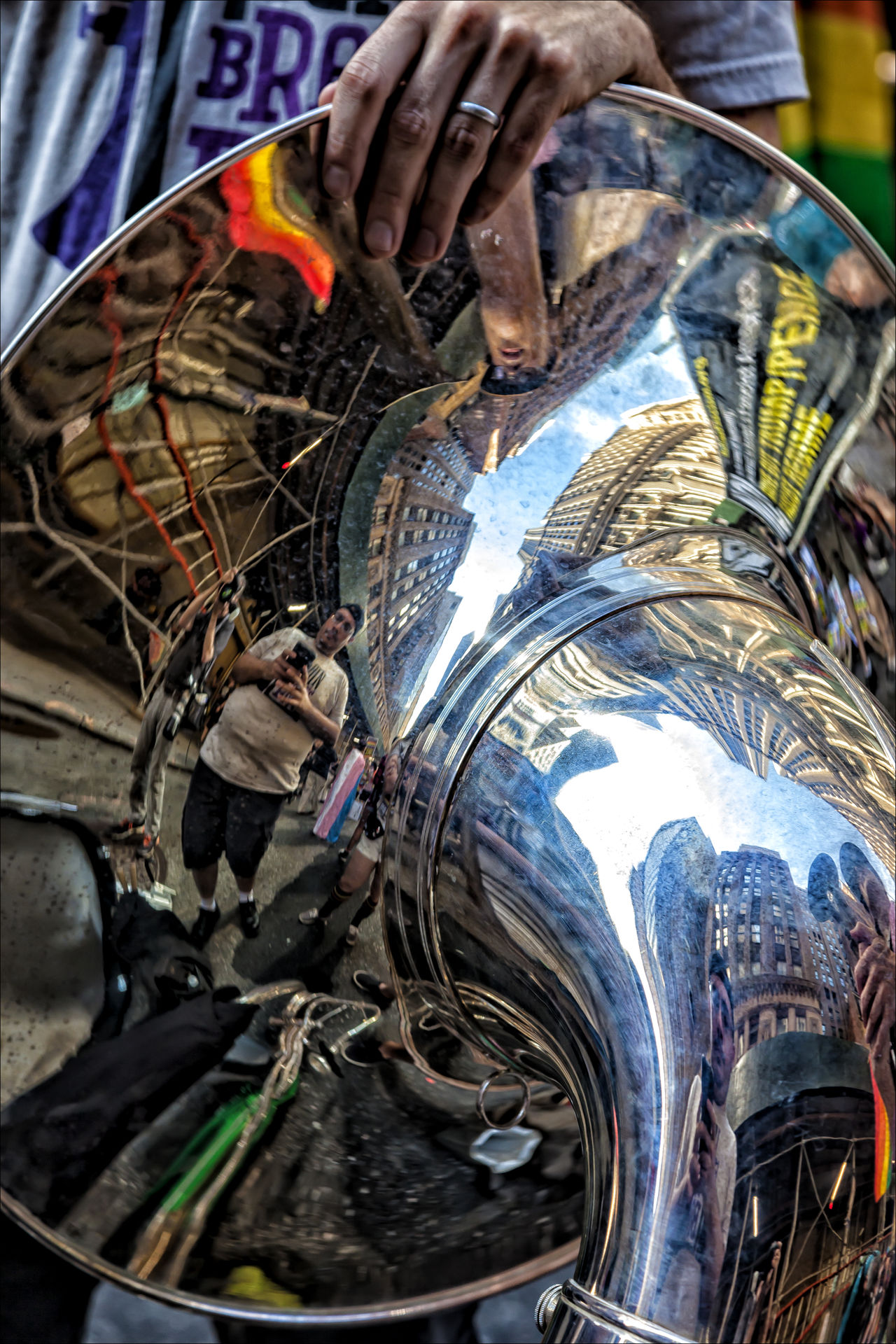 Gay Pride Parade 2017 NYC Gay Pride Parade 2017 NYC Music Musical Instrument Reflection Tuba