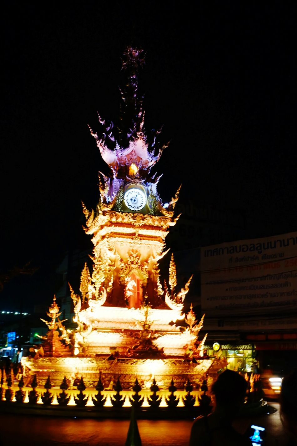 "Popular Destination in ""THAILAND"" Night Celebration Illuminated Celebration Event Low Angle View Travel Destinations Traditional Festival Architecture Arts Culture And Entertainment Holiday - Event Outdoors Christmas Decoration People"