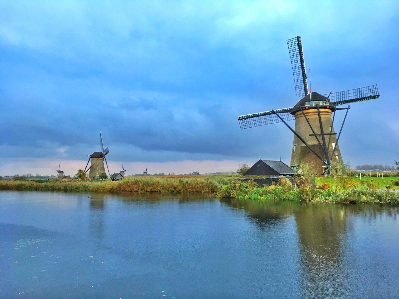 Windmill Rural Scene Holland