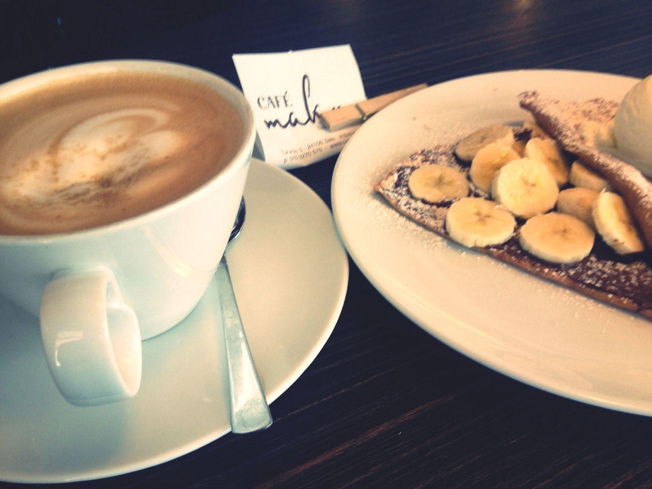 Friday lunch :) Caffì¬ Au Lait Crepes! ^_^
