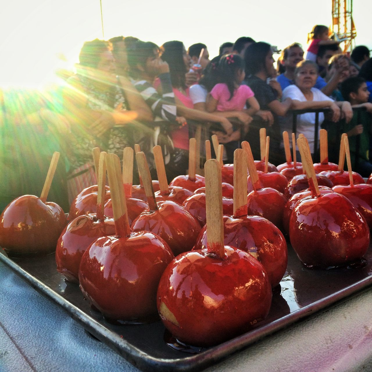 Glitch Caramel Apples State Fair Amusement  Vacation Time Sweets Childhood Memories Candy IPhoneography Photojournalism #CandyApples at the #countryfair. #Salvadorans are enjoying the holydays in honor to the Divine #SavioroftheWorld #JesusChrist. / #Manzanas en miel o con #caramelo en la feria. Los #salvadoreños están disfrutando de los días festivos en honor a la Divino