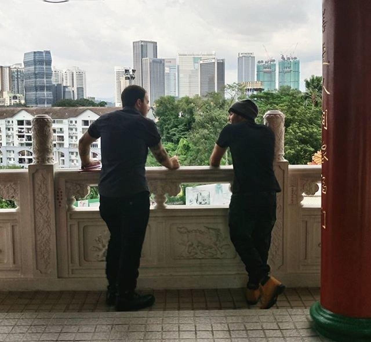 Bromance THESE Are My Friends in Thean Hou Temple (天后宫) Buddhist Temple Kuala Lumpur Malaysia Discover Your City Cityscapes Peoplephotography People Watching Portrait Of A Friend Urban Landscape Peaceful Mobilephotography Sony Bromance Feel The Journey Original Experiences