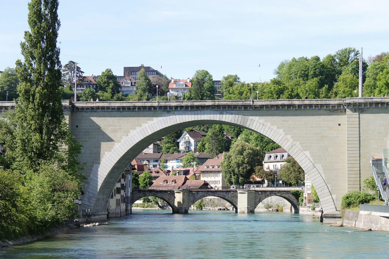 Bridge - Man Made Structure Architecture Arch Water Old Town Bern, Switzerland Bridge HJB Travel Destinations Outdoors City River