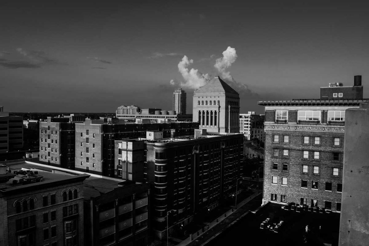 architecture, building exterior, built structure, city, smoke - physical structure, sky, no people, outdoors, day, cityscape, industry