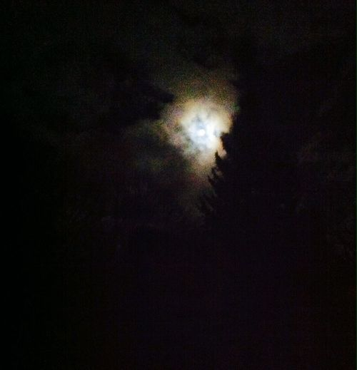 The moon crying