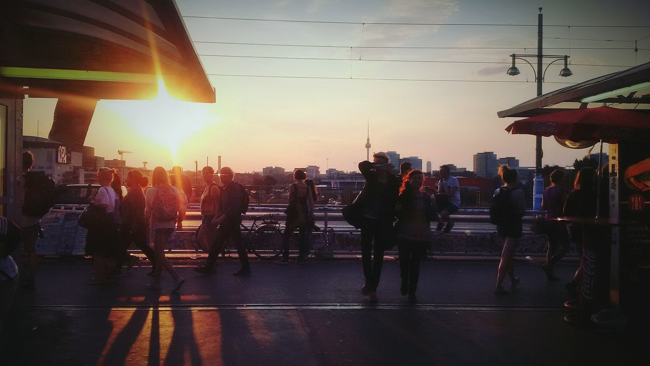 Battle Of The Cities Architecture Sunset City Life Lens Flare Crowd Concrete Subway Urban Berlin Ostkreuz Berlin Ostkreuz Discover Berlin