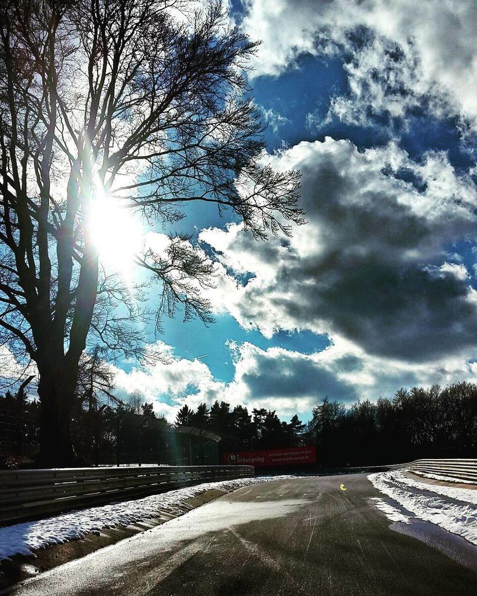 Tree Sunlight Sky Cloud - Sky Sun No People Outdoors Nature Day Beauty In Nature Nordschleife Motorsportphotography Motorsport Nurburgringedition Nürburgring Racetrack Nurburgring Cars Racing Long Exposure Motion First Eyeem Photo
