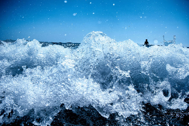 Beauty In Nature Motion Nature Power In Nature Reflection Rippled Scenics Sea Silhouette Splashing Surf Swimmer Swimming Water Waterfront Wave Winter Macro Beauty