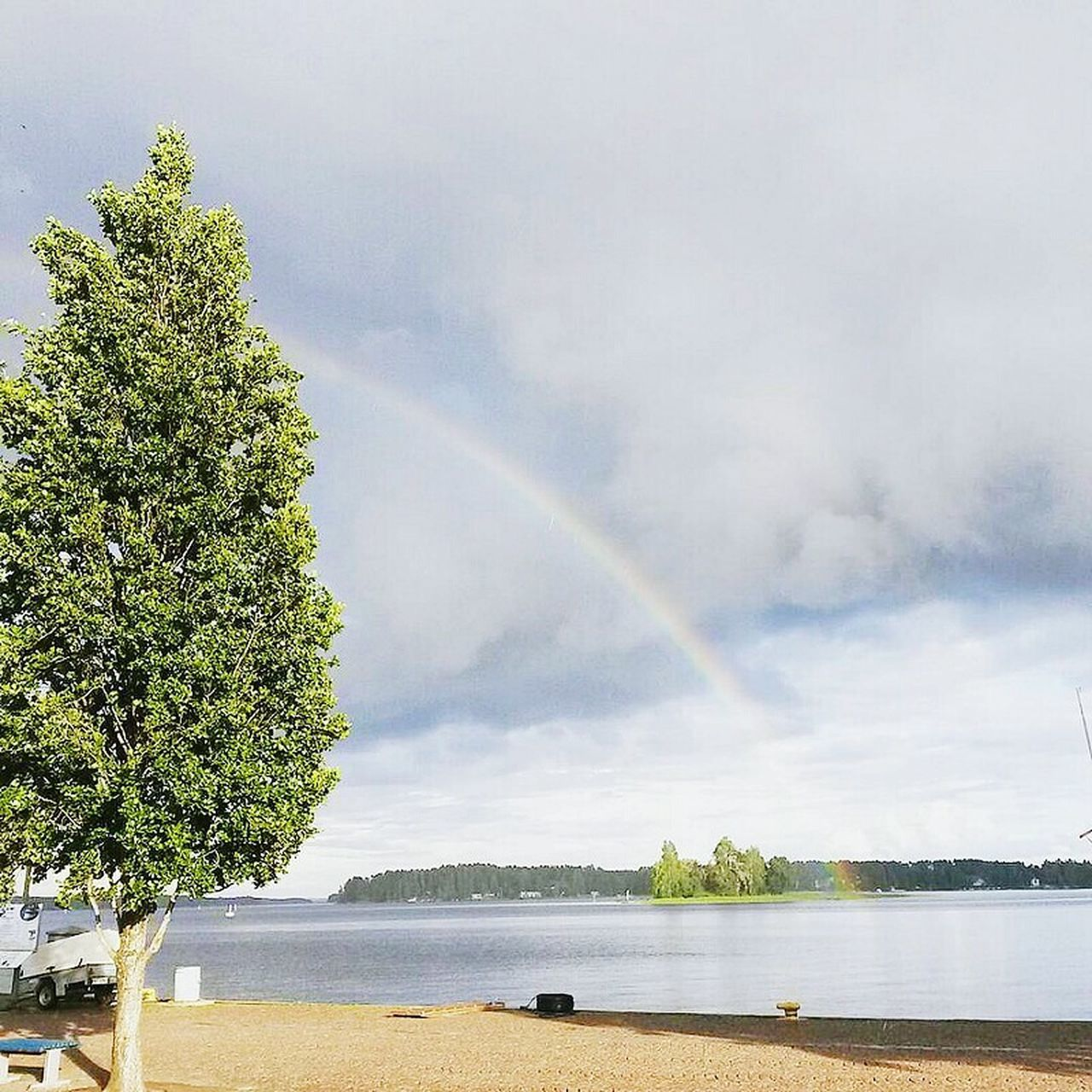 Kuopio Finland♥ Finland Summer Finland's Clean Nature Finlandia Nature Outdoors Tree Rainbow Lake River Nature Tranquility Water Riverbank Multi Colored Green Color Green Cloud - Sky Majestic