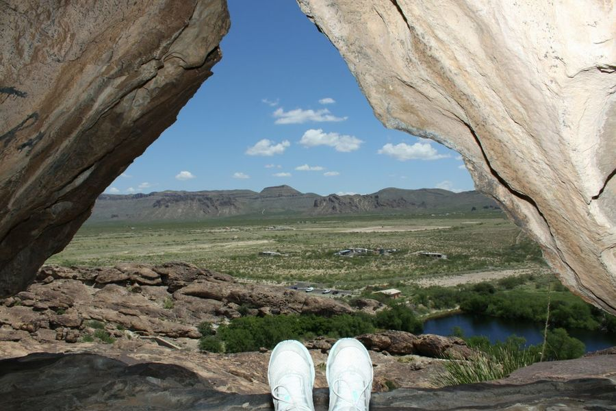 Personal Perspective Arid Climate Landscape Tranquility Huecotanks State Park Rocky Outdoors Geology Feets In The Air Breathing Space