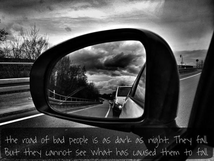 Proverbs Clouds And Sky Darkness Road Mirror Traffic Bible Verses Clouds Car