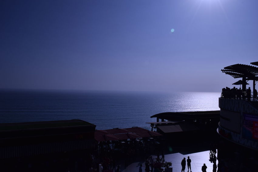 Calm Cliff Horizon Over Water LarcoMar  Lima Perú Miraflores Sea Sky Sunbeam Tourism Tranquil Scene Water