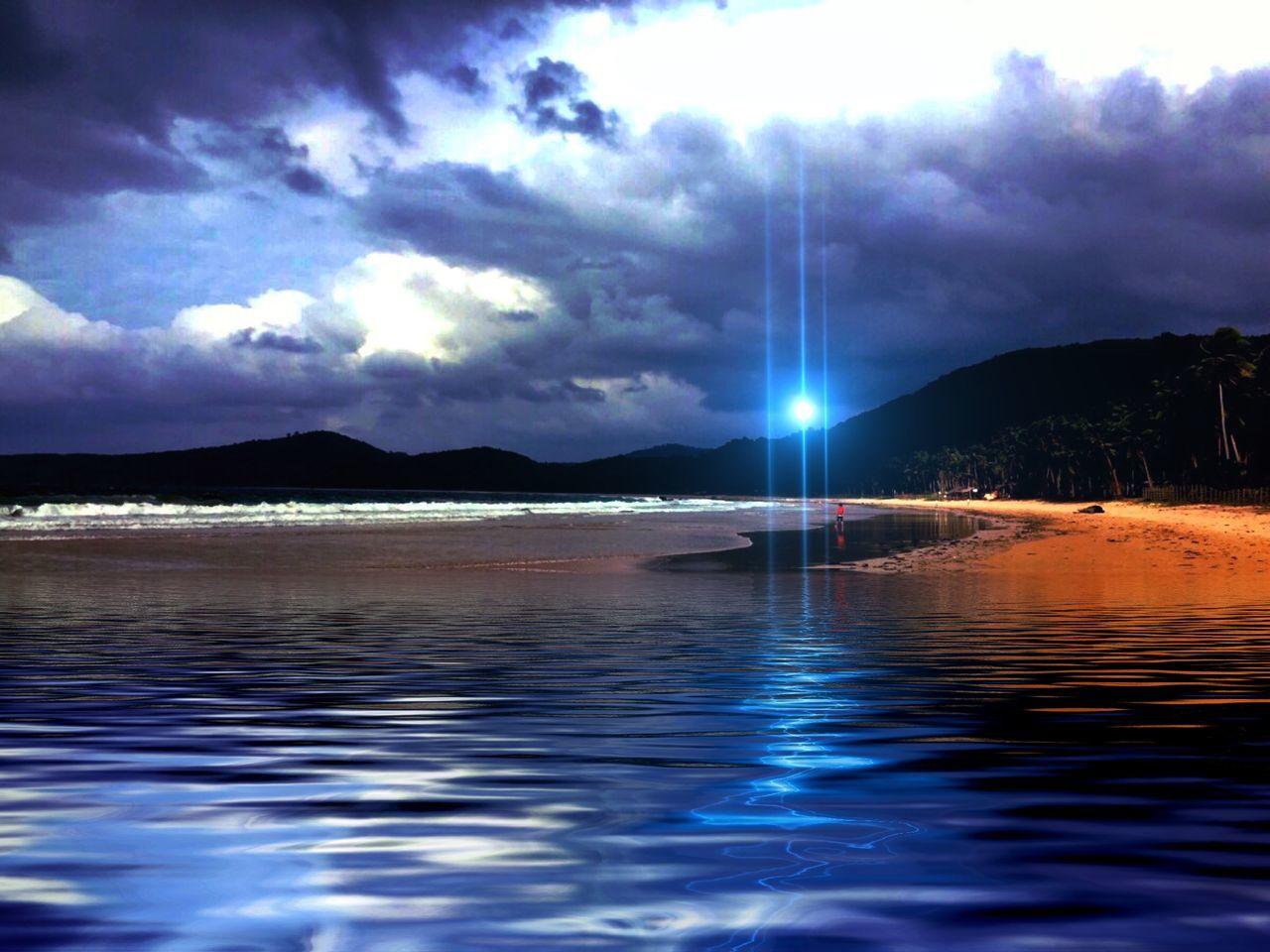 """My Version"" Nacpan Beach...a perfect beach scene!!! EyeEm Best Edits EyeEm Nature Lover Enjoying Life Malephotographerofthemonth Eyeem Philippines Eye4photography  Clouds And Sky Sea And Sky Beachphotography Beach"