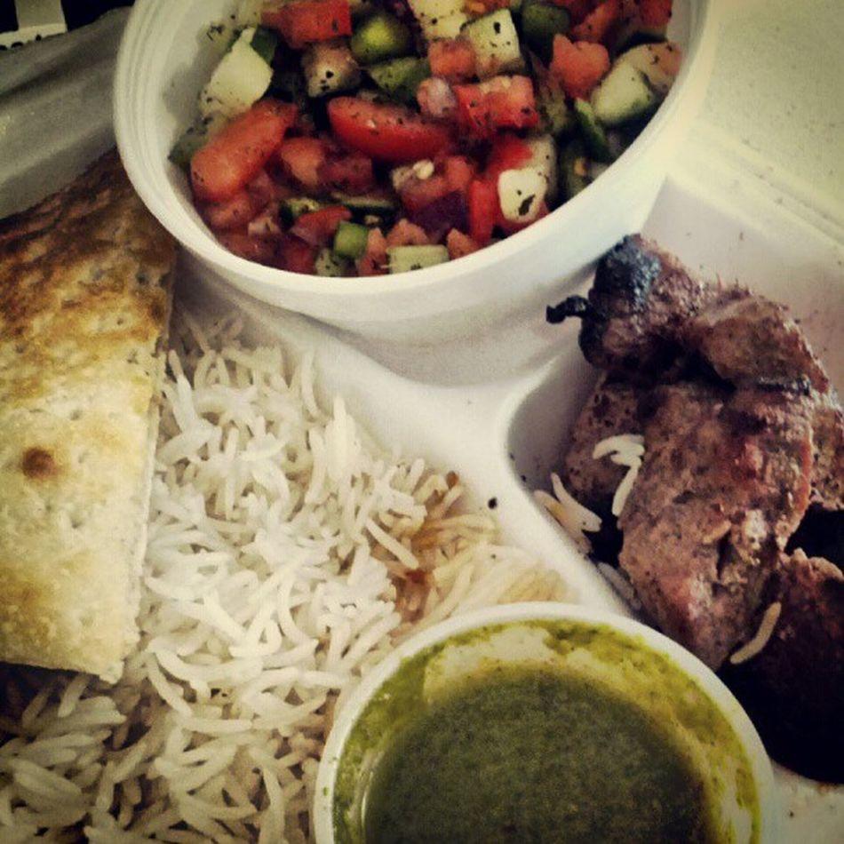 Beef kabobs are good and juicy at this place! Beef Kabob Food Mmmgood
