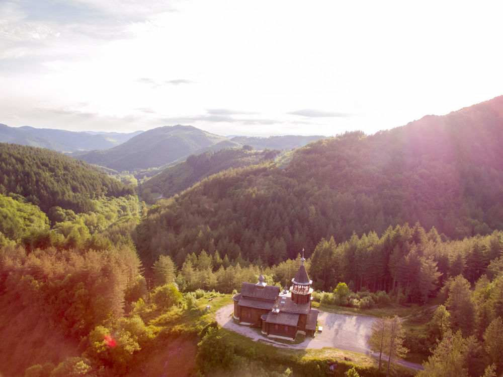 Aerial Photography Aerial Shot Aerial View Beautiful Beauty In Nature Beauty In Nature Bird View Church Day Drone  Dronephotography Landscape Mountain Mountain Range Nature No People Orthodox Orthodox Church Outdoors Scenics Sky Tranquil Scene Tranquility Tree Wooden The Architect - 2017 EyeEm Awards