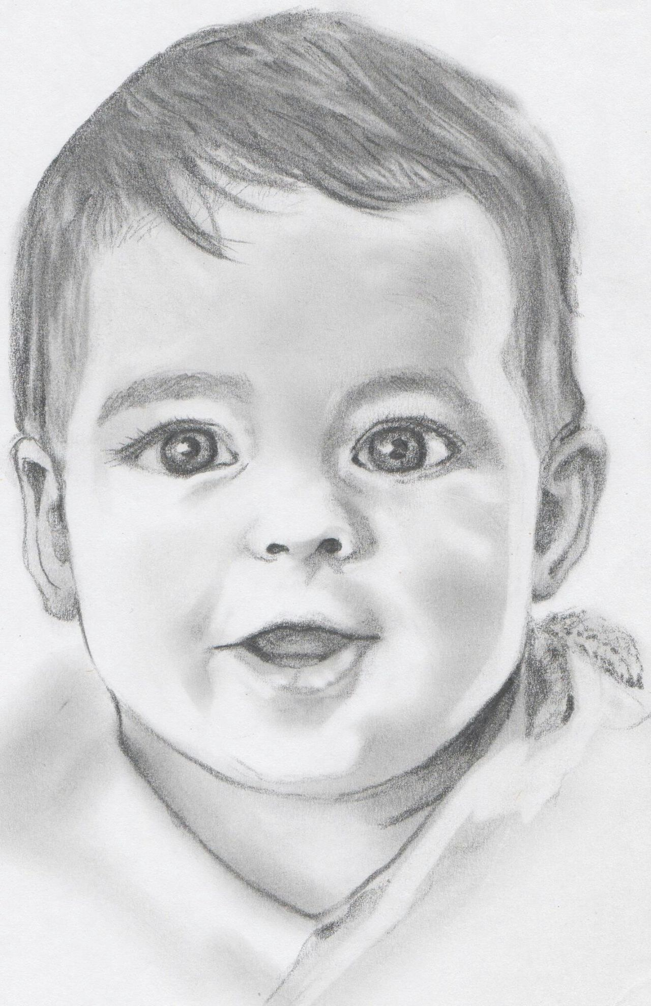 Retrato Grafito Portrait Lapiz Art, Drawing, Creativity Boceto Retrato Dibujoartistico Dibujo A Lapiz Dibujo Children Baby Boy