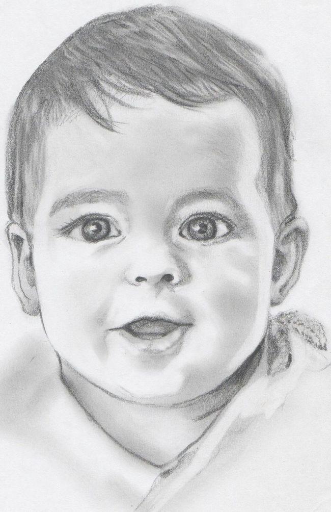 Retrato Grafito Portrait Lapiz Art, Drawing, Creativity Boceto Retrato Dibujoartistico Dibujo A Lapiz Dibujo Children Baby Boy