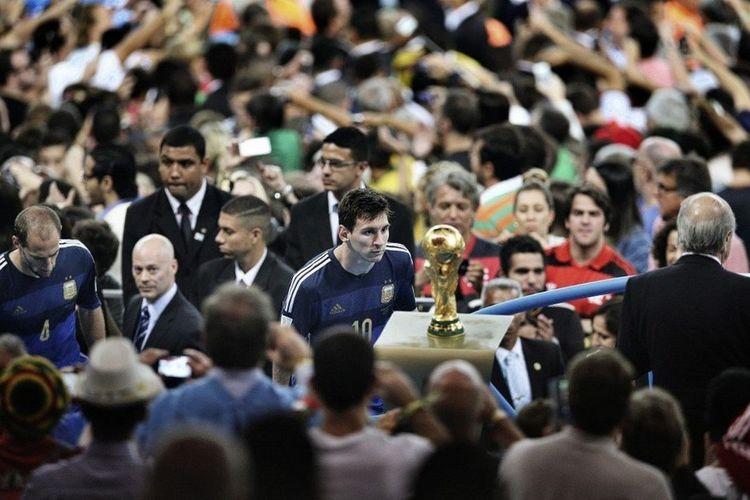 La desolacion de Messi tras la final de Brazil 2014 World Cup ha sido considerada como la mejor foto deportiva del año por Worldpressphoto