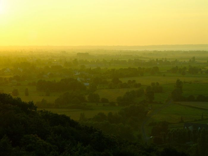Mont Dol 2007 Beauty In Nature Beauty Of Nature Bretagne Elevated View Evening Light France Landscape Mont Dol No People Outdoors Patchwork Landscape Sun