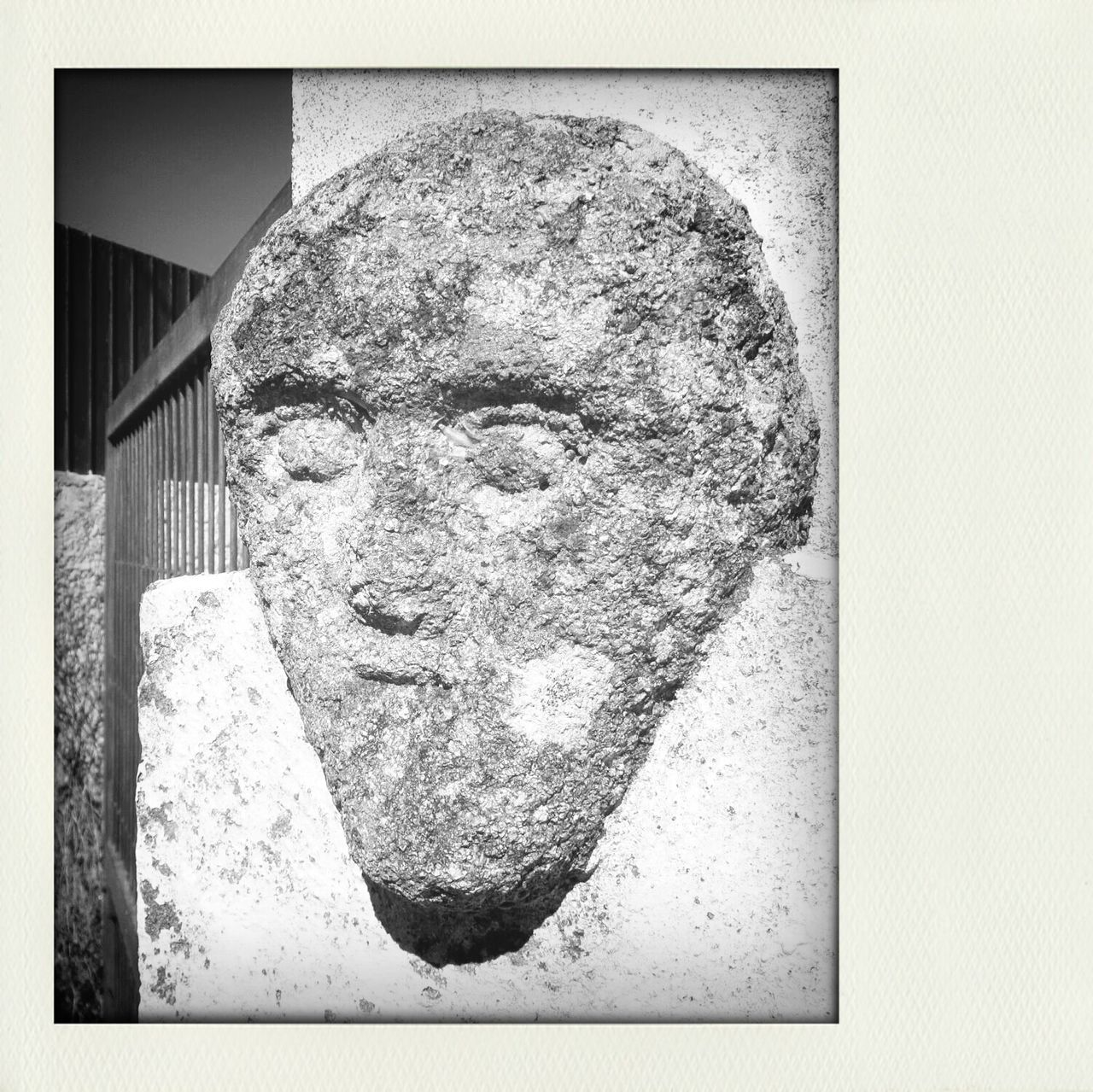 A Stone Face :-) My Monochrome World Monochrome _ Collection Eyeem Monochrome Black And Light