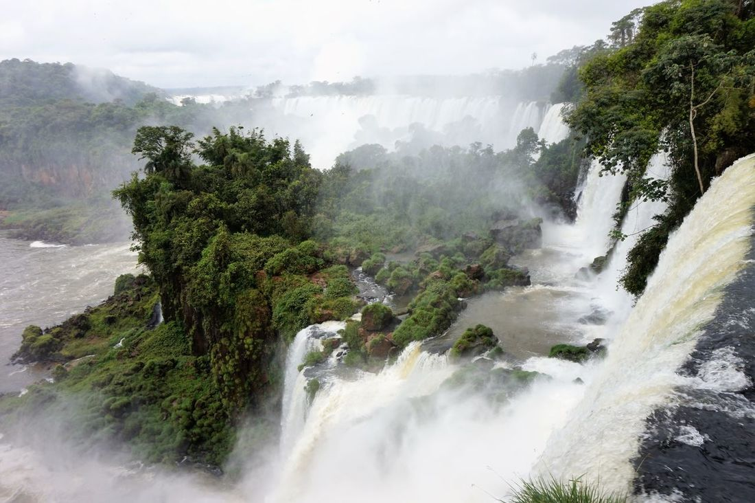 Argentina Beauty In Nature Day Iguana Long Exposure Motion Mountain Nature No People Outdoors Power In Nature River Scenics Sky Southamerica Tree Water Waterfall