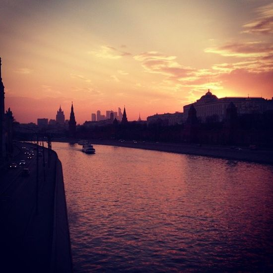 Inmsk Moscowriver Sunset