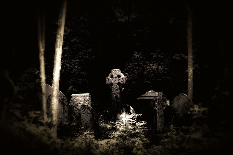 Run Down Cemetery Nature On Your Doorstep Old Gravestone Walking Around The Cemetery Bristol Uk Heavy Edit Urban Landscape Relaxing Taking Photos Moonlight Effect