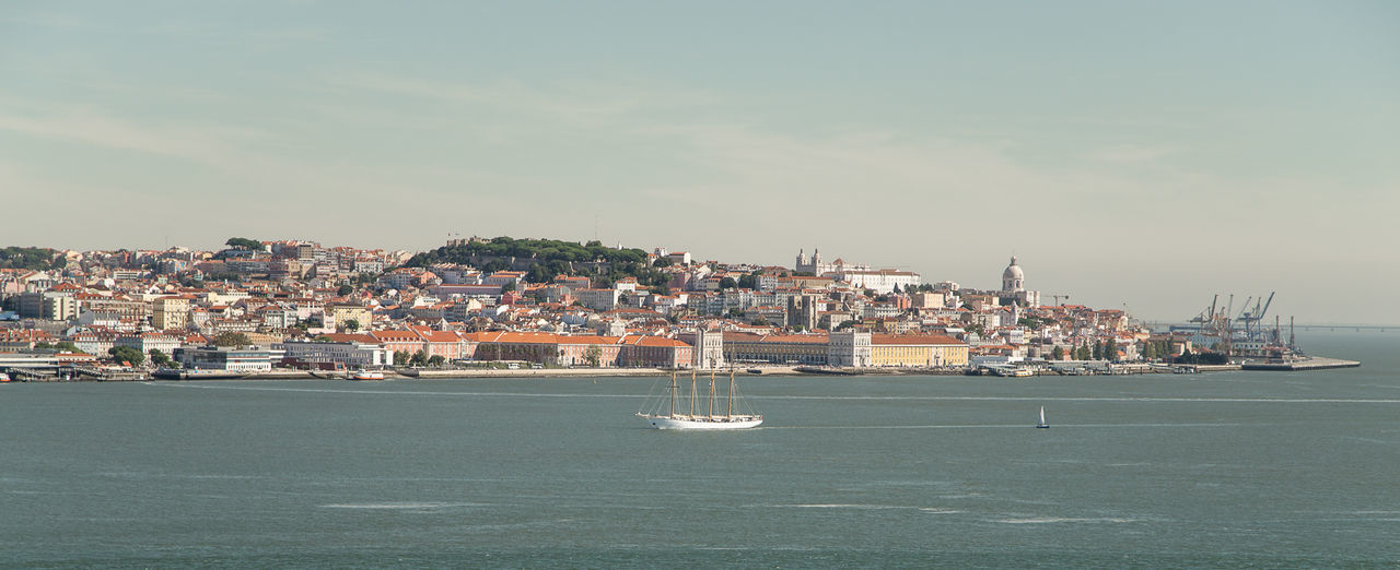 Architecture Building Exterior City Cityscape Day Lisboa Nautical Vessel No People Outdoors Portugal Sailboat Travel Destinations Urban Skyline Yacht Yachting