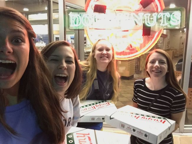 drove an hour to KrispyKreme in Richmond, VA for Doughnuts bc College Life and Spontaneous but then left my purse & had to go back again today Adult Hardwork