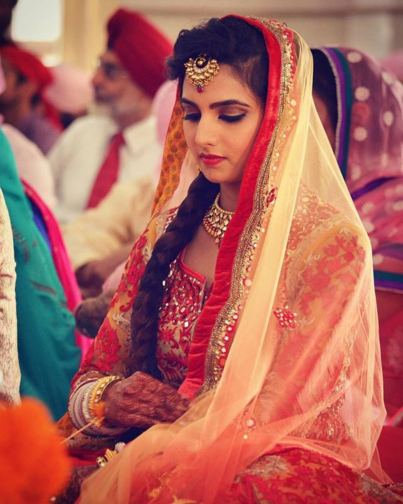 Punjabi Gujarati Aeshkydiwedding Gagans_photography Picsagram Picoftheday Beautiful Bride Stayblessed Bhabhiji