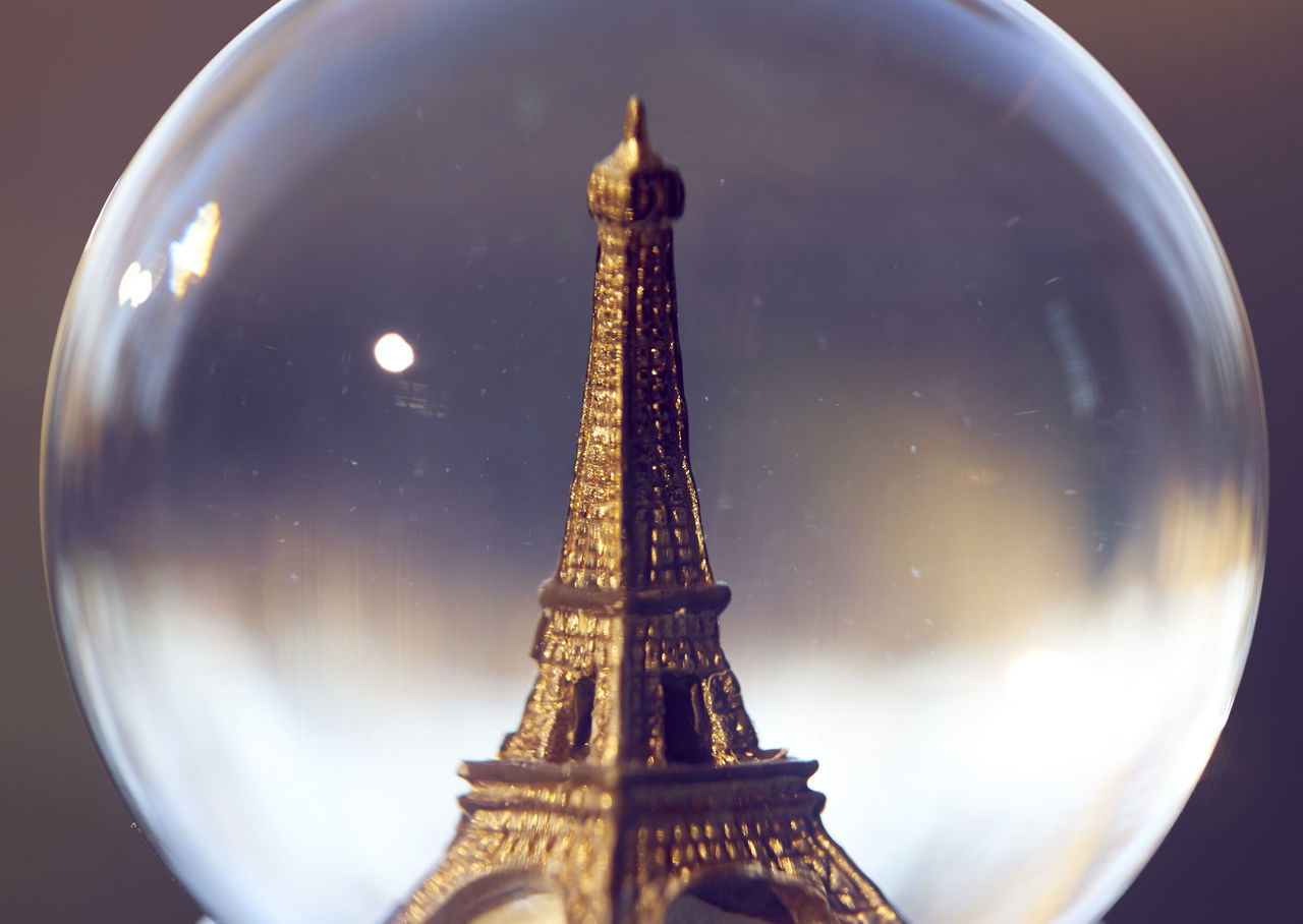 Architecture Astronomy Building Exterior Built Structure City Cultures Eiffel Tower Eiffeltower Macro Macro Photography Night No People Outdoors Paris Planet - Space Sky Snow Globe Space Tower Travel Destinations Water Water Reflections