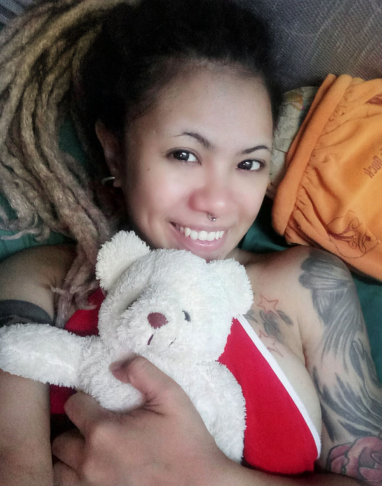 Just hug with my buddy! 🐻😊 Looking At Camera Smiling Withoutmakeup Beauty Asian Girl Tattoos Dreadlocks Sexythaigirl Newhair Crazygirl First Eyeem Photo Mypic ThatsMe Girlwithtattoos  Dreadlocks Girl Sexyasiangirl Hello World Beautiful People Buddy Aliennam 👽👽👽