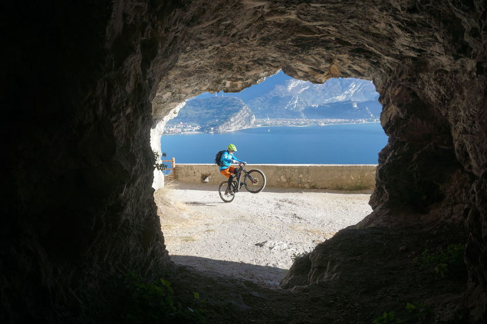 Mountainbiker tunnel view on lake garda Garda Lake Garda Lake Italy Gardalake Gardasee Gardasee,Italien Mountain Bike Mountainbike Mountainbiker Tunnel Tunnel View Tunnel Vision First Eyeem Photo EyeEmNewHere