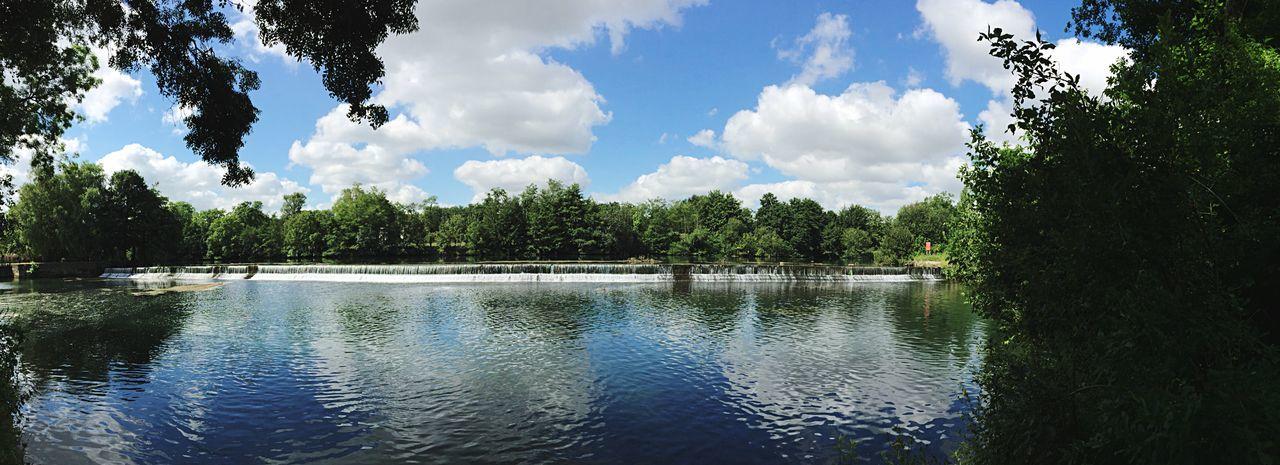 Chutes d'eau sur la Charente Nature Balade Panoramique  Panoramic Sur Les Chemins Charente Au Bord De L'eau Paysage France Randonnées