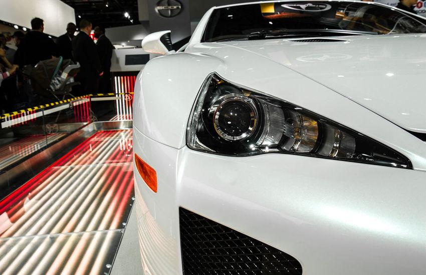 Car Close-up Detroit Auto Show 2014 Headlight Land Vehicle Mode Of Transport Scion  Toyota Transportation