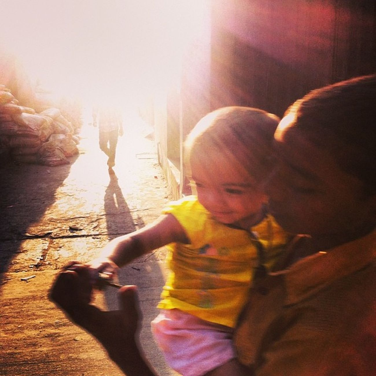 Sun Light Shadow Ray Boy Child Children Winter Evening Street Chaktai Chittagong Instagram