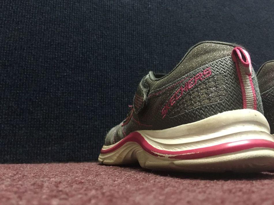 Grey Shoes Still Life Bottom View Footwear