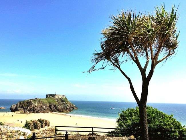 Beautiful Tenby in Pembrokeshire, UK Relaxing Enjoying Life Beauty In Nature Summertime Pembrokeshire The Essence Of Summer IPhoneography Looking Out To Sea. Ocean View Pembrokeshire Coast Tropical Sea And Sky