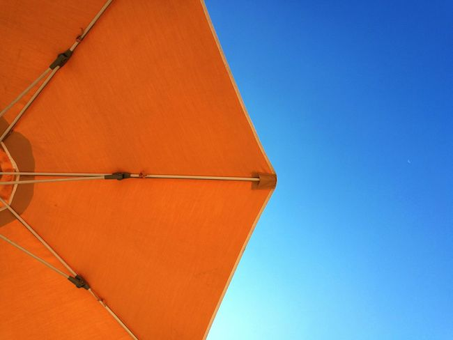 Calella Spain🇪🇸 Beach Colour Contrast Color Sky Structure Contrasting Colors Sun Parasol TakeoverContrast