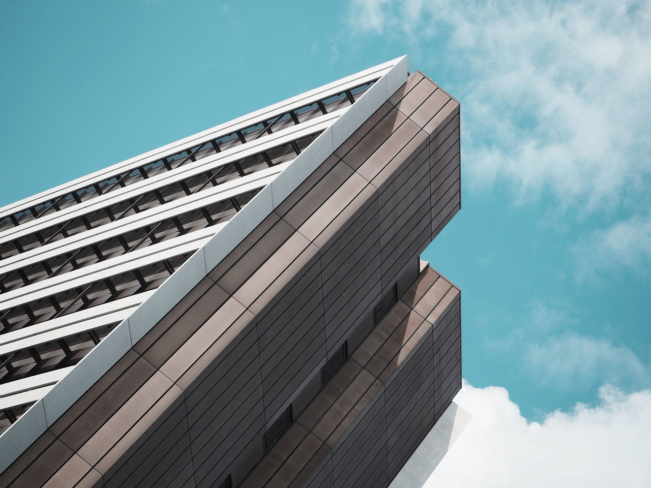 Architecture Building Exterior Built Structure Clouds Day Façade Low Angle View Modern Sky