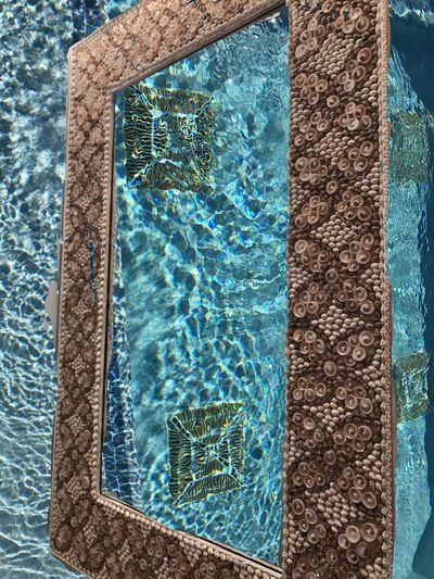 100dayproject Photo Merge Swimming Pool Picture Frame Arty Photo. Lines And Patterns Shapes And Forms Intense Colors Abstract Photography Blue And Brown Watery Whatisit Doubletake