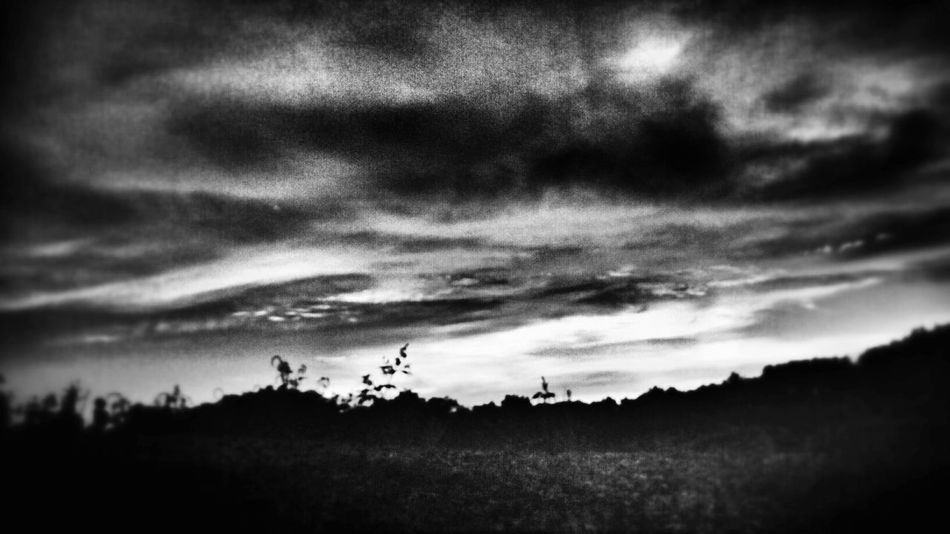 Black And White Sunset Sunset Silhouettes Clouds
