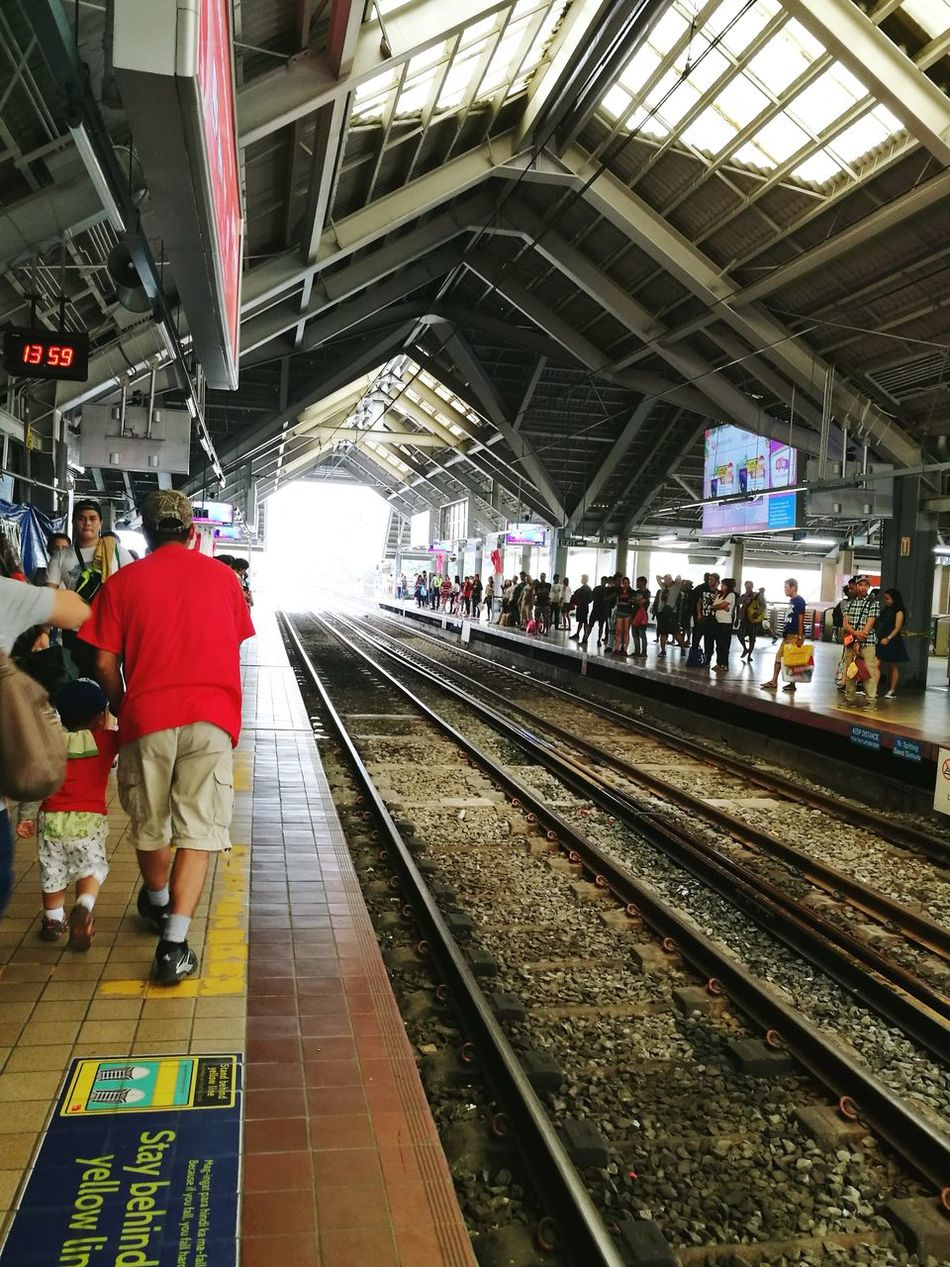 LRT Railroad Track Transportation Public Transportation People Busy Days Rush Hour Busy People