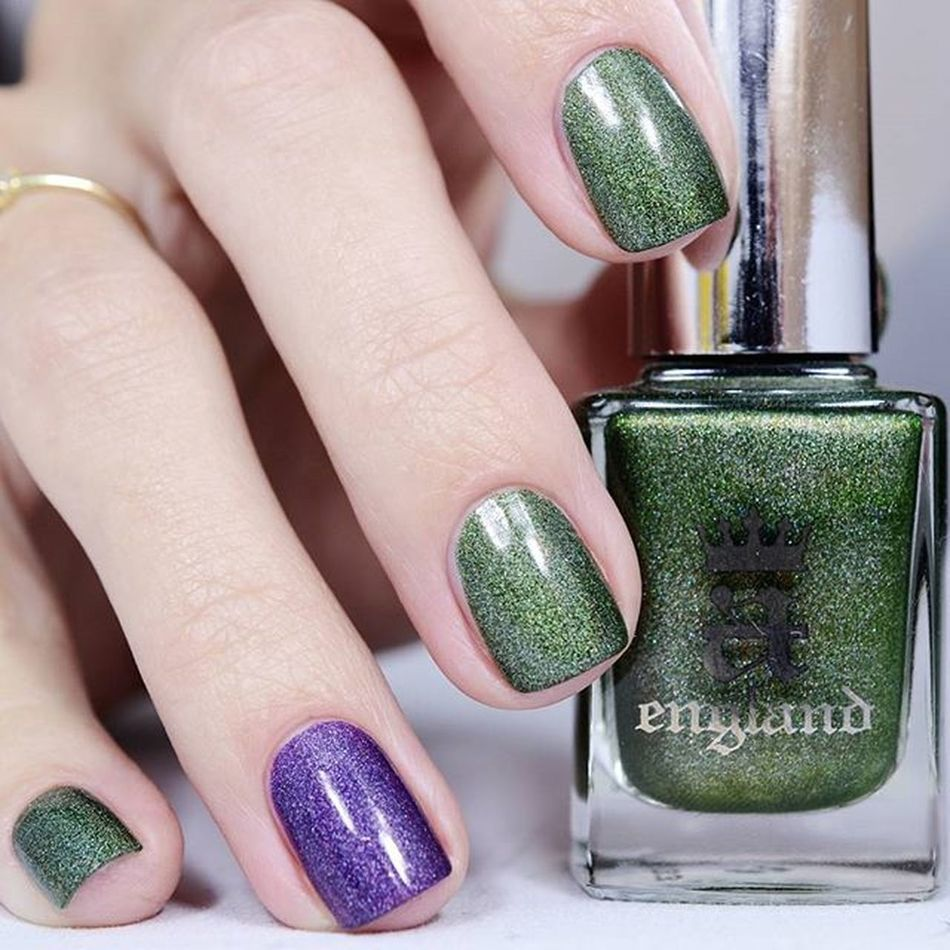 Ура, четверг! Можно красить чем захочешь! 😃😃 Aengland Dragon & Lady Of The Lake 💚💜 Nailblogger Polishaholic Naildesign Nailru лакоманьяк Nailbeauty Nailaddict лакоголик Nails2inspire Nagellack  Smalto лак Notd Allprettynails Vernis Uñas Nailvarnish Nailsoftheday маникюрныйинстаграм тегсообществанейлру2016
