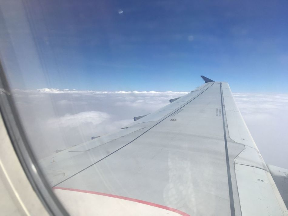 Unedited Airplane Transportation Sky Window Travel Day Cloud - Sky Air Vehicle Mode Of Transport No People Flying Journey Aircraft Wing Looking Through Window Airplane Wing Outdoors Nature Close-up