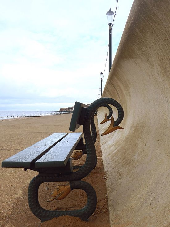 Showcase March Seaside Sea Sea And Sky Promenade Bench Winter Beach Day Hunstanton Coastline
