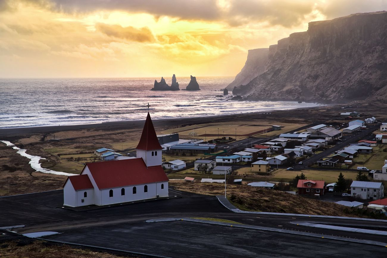 Iceland Vic town