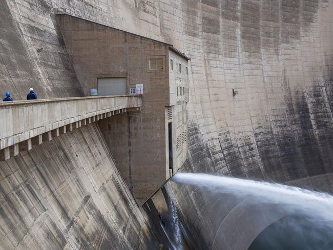 Hydroelectric Power Hydro Power Dam Hydro Power Plant Lesotho Katsedam Katse Dam African Africa Concrete